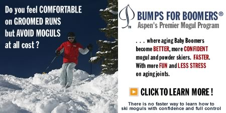 Bumps For Boomers is Aspen's Premeir Ski Instruction Program for moguls and powder